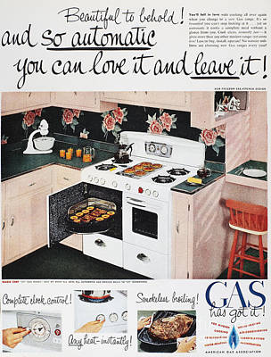 Photograph - Gas Stove Ad, 1950 by Granger