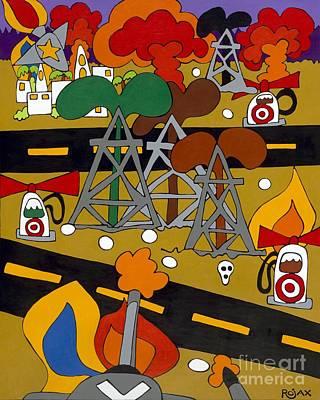 Painting - Gas Wars by Rojax Art