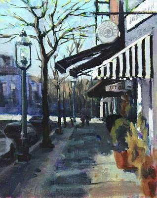 Gaslight Painting - Gaslight District by Kurt Anderson