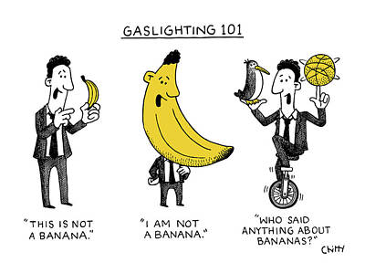 Drawing - Gaslighting 101 by Tom Chitty