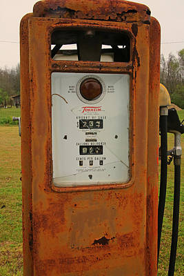 Photograph - Gasoline Pump by Ronald Olivier