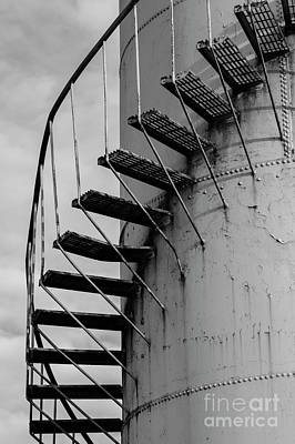Photograph - Gasoline Storage Tank With Staircase A by Jim Corwin