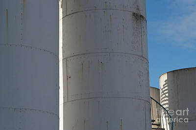 The Champagne Collection - Gasoline Storage Tanks with Staircase by Jim Corwin