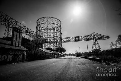 Photograph - Gasometer - Gas Storage Tank by Stefano Senise