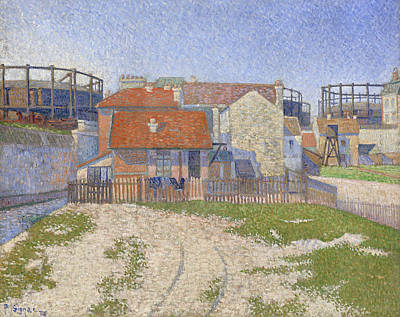 Pointillist Painting - Gasometers At Clichy by Paul Signac