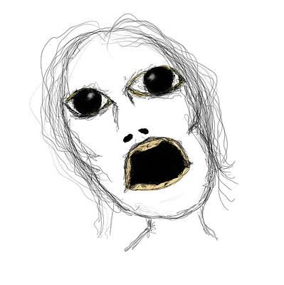Drawing - Gasp by Bill Owen