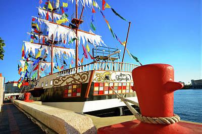 Photograph - Gaspar Ship At Dock by David Lee Thompson