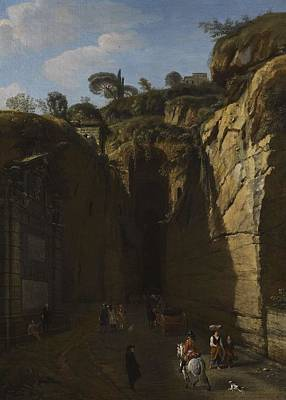 Vintage College Subway Signs Color - Gaspar van Wittel  called Vanvitelli AMERSFOORT 1652   1736   A VIEW OF THE GROTTO AT POZZUOLI WITH  by Gaspar van Wittel  called Vanvitelli AMERSFOORT