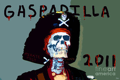 Gasparilla 2011 Work Number Two Art Print by David Lee Thompson