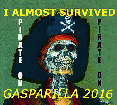 Painting - Gasparilla 2016 T Shirt by David Lee Thompson