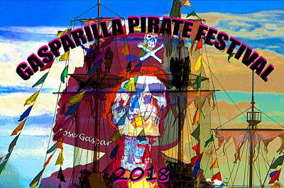 Mixed Media - Gasparilla 2018 A by David Lee Thompson