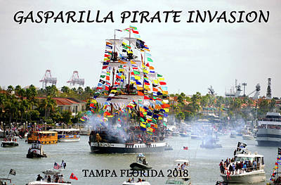 Photograph - Gasparilla 2018 Poster A by David Lee Thompson