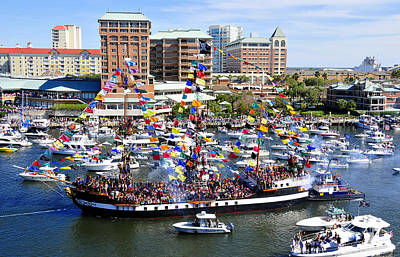 Gasparilla And Harbor Island Florida Art Print by David Lee Thompson