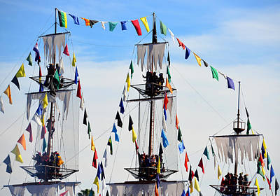 Photograph - Gasparilla Ship Work C by David Lee Thompson