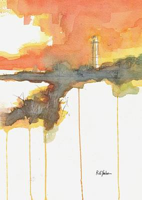 Coast Guard Wall Art - Painting - Gasparilla Coast Guard Light II by Robert Yonke