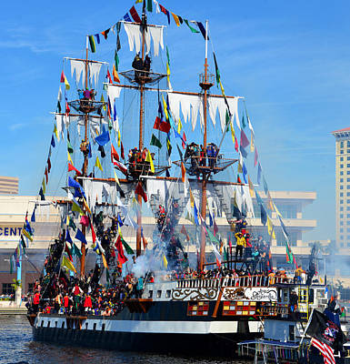 Photograph - Gasparilla Invasion 2016 Work D by David Lee Thompson