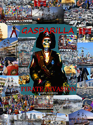 Photograph - Gasparilla Invasion Work A by David Lee Thompson