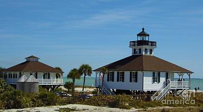 Keepers Cottage Photograph - Gasparilla Island Lighthouse And Cottage by D Hackett