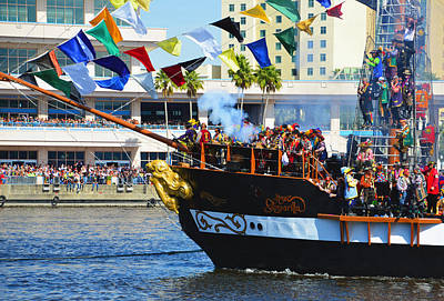 Photograph - Gasparilla Landing by David Lee Thompson