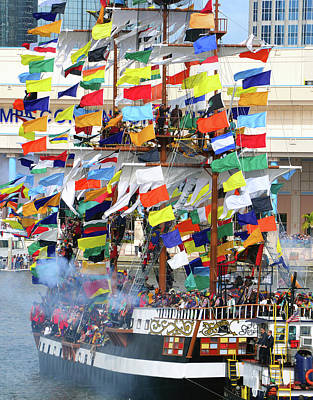 Photograph - Gasparilla's Flags by David Lee Thompson