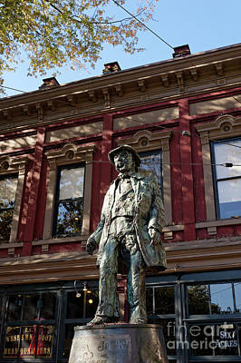 Photograph - Gassy Jack Statue Vancouver by John  Mitchell