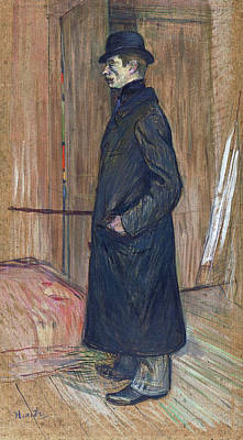 Stand Painting - Gaston Bonnefoy by Henri de Toulouse-Lautrec