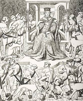 Gaston Phoebus 1331 To 1391 Teaching Art Print by Vintage Design Pics