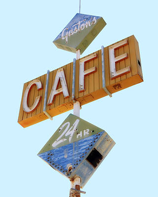 Photograph - Gaston's Cafe Neon Sign by Gigi Ebert