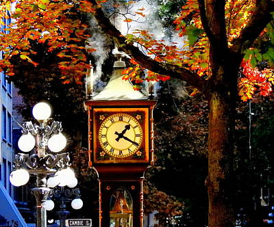 Photograph - Gastown Steam Clock by Betty-Anne McDonald
