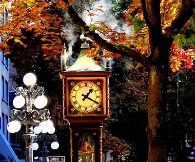 Photograph - Gastown Steam Clock by Betty-Anne McDonald
