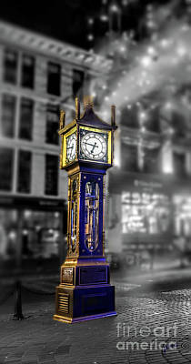 Digital Art - Gastown Steam Clock by Jim Hatch