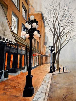 Painting - Gastown, Vancouver by Sher Nasser