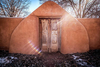 Southwest Gate Photograph - Gate At Galisteo by Mary Lee Dereske