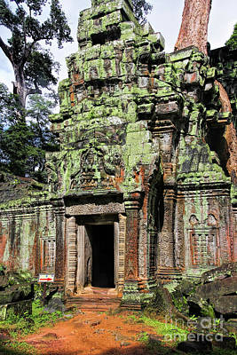 Photograph - Gate At Ta Prohm by Joerg Lingnau