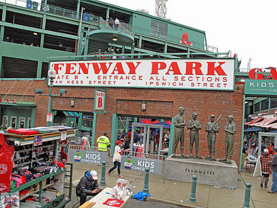 Photograph - Gate B Fenway by Barbara McDevitt