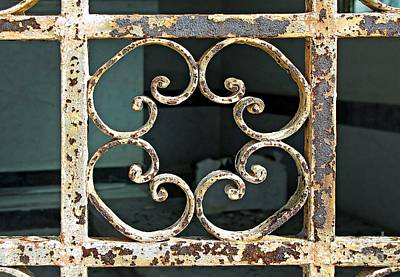 Photograph - Gate Detail by Ethna Gillespie