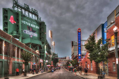 Gate E - Fenway Park Boston Print by Joann Vitali