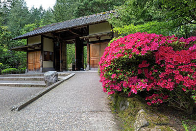 Photograph - Gate Entrance At Portland Japanese Garden by Jit Lim