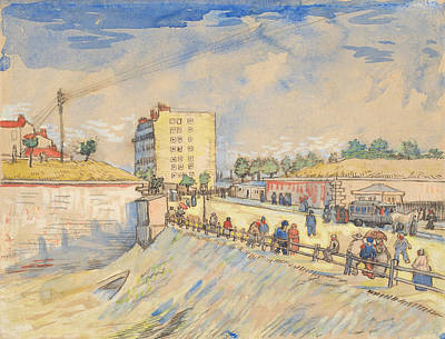Gate In The Paris Rampart Vincent Van Gogh Art Print by Vincent Willem Van Gogh