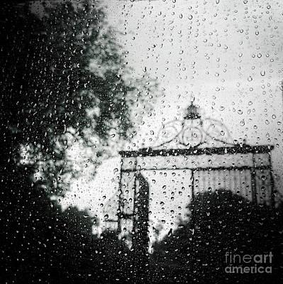 Photograph - Gate In The Rain by Miriam Danar