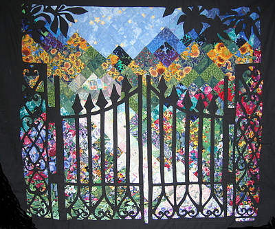 Tapestry - Textile - Gate Into The Garden by Sarah Hornsby