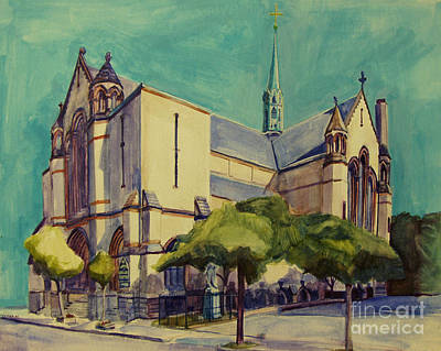 Southie Painting - Gate Of Heaven Church by Deb Putnam