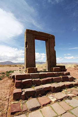 Photograph - Gate Of The Moon, Tiwanaku  by Aidan Moran