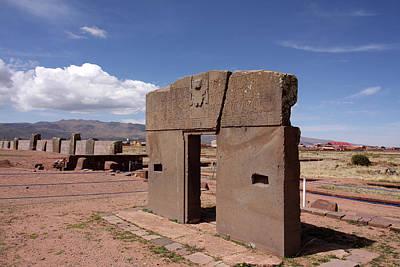 Photograph - Gate Of The Sun, Tiwanaku  by Aidan Moran