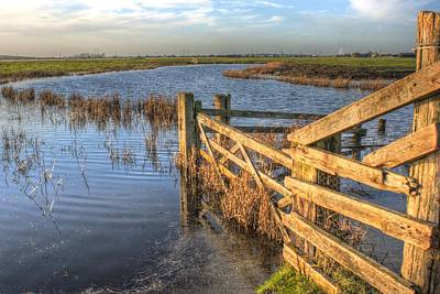 Sheppey Photograph - Gate On The Marsh by Dave Godden