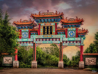 Photograph - Gate On The Road To The Huanglong  Temple by Endre Balogh