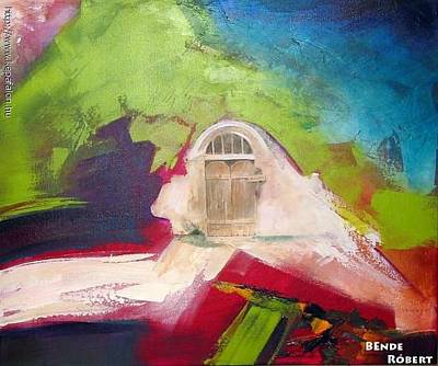Painted Garden Gate Painting - Gate by Robert Bende