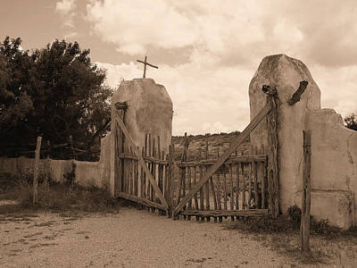 Photograph - Gate To Another Time - Old Mission Gate by Ron Grafe