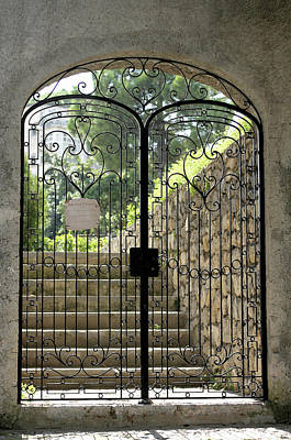 Photograph - Gate To Biblioteca S Francesco by Vicki Hone Smith