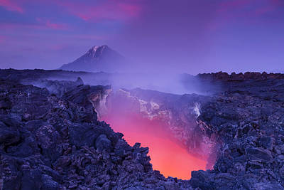 Volcano Photograph - Gate To Hell by Denis Budkov